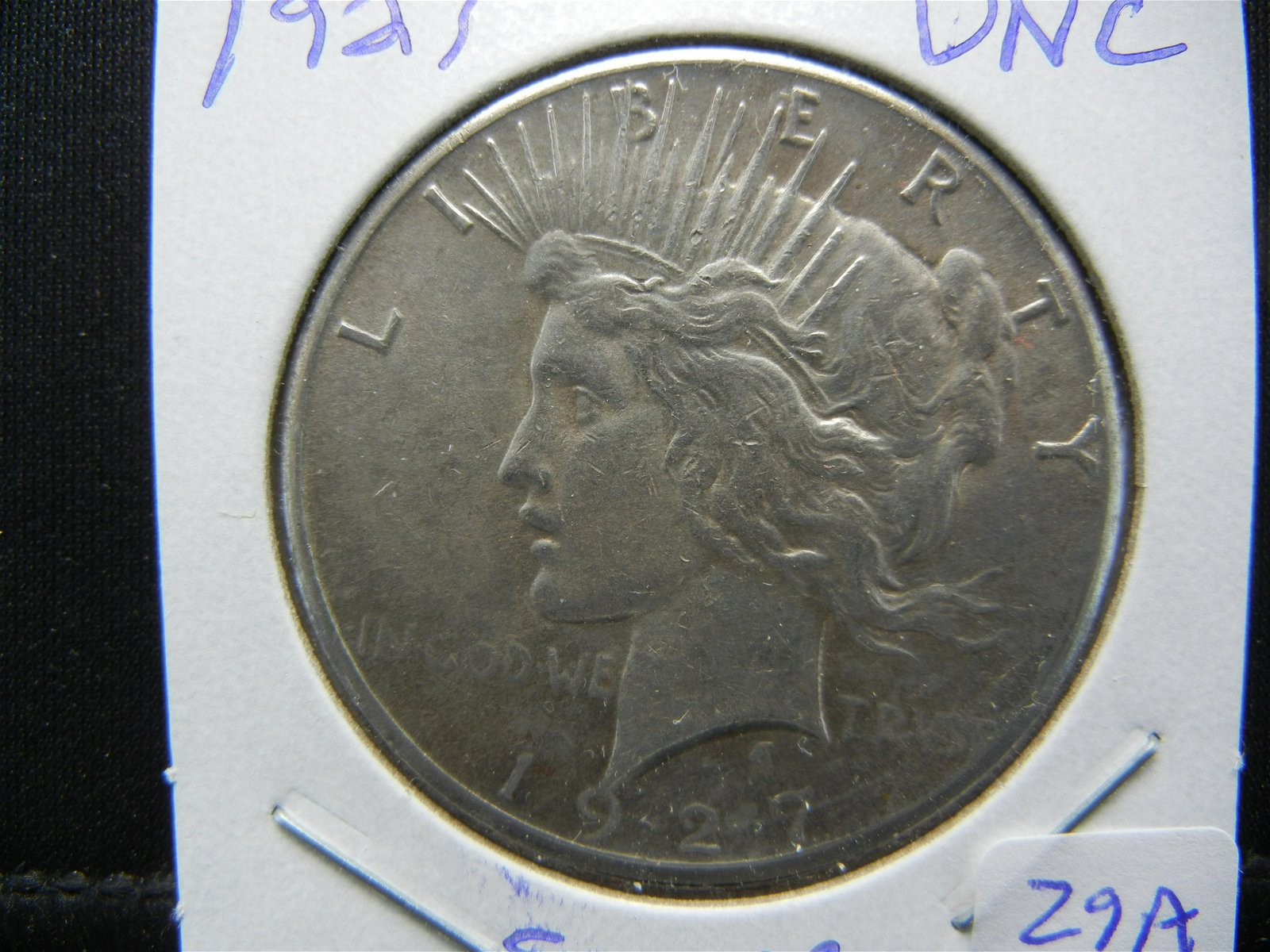 1927 Peace Dollar.  Uncirculated.  Very Low Mintage.