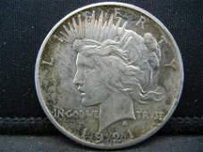 1921 Peace Dollar Key Date