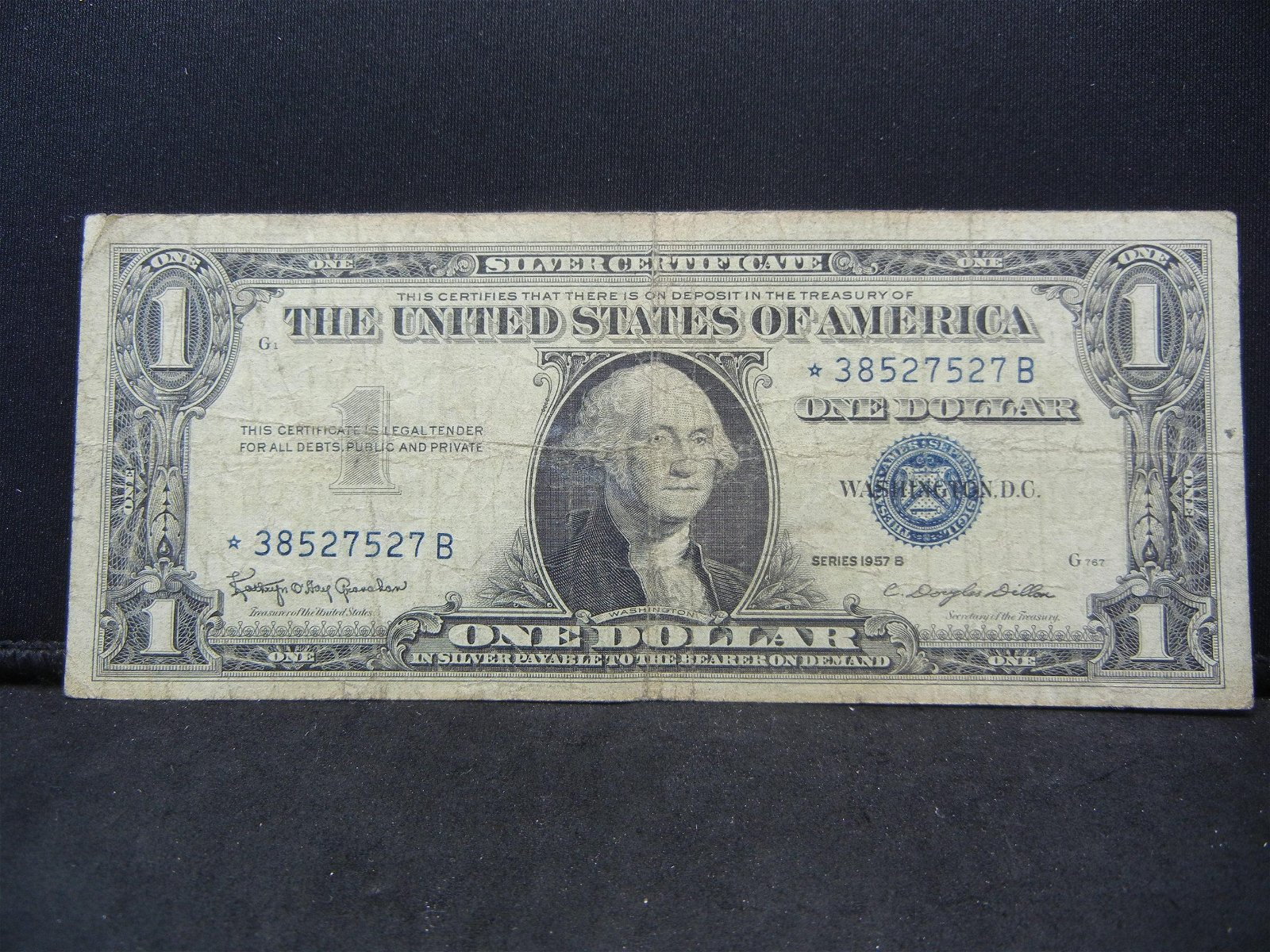 1957-B Star Note One Dollar Silver Certificate