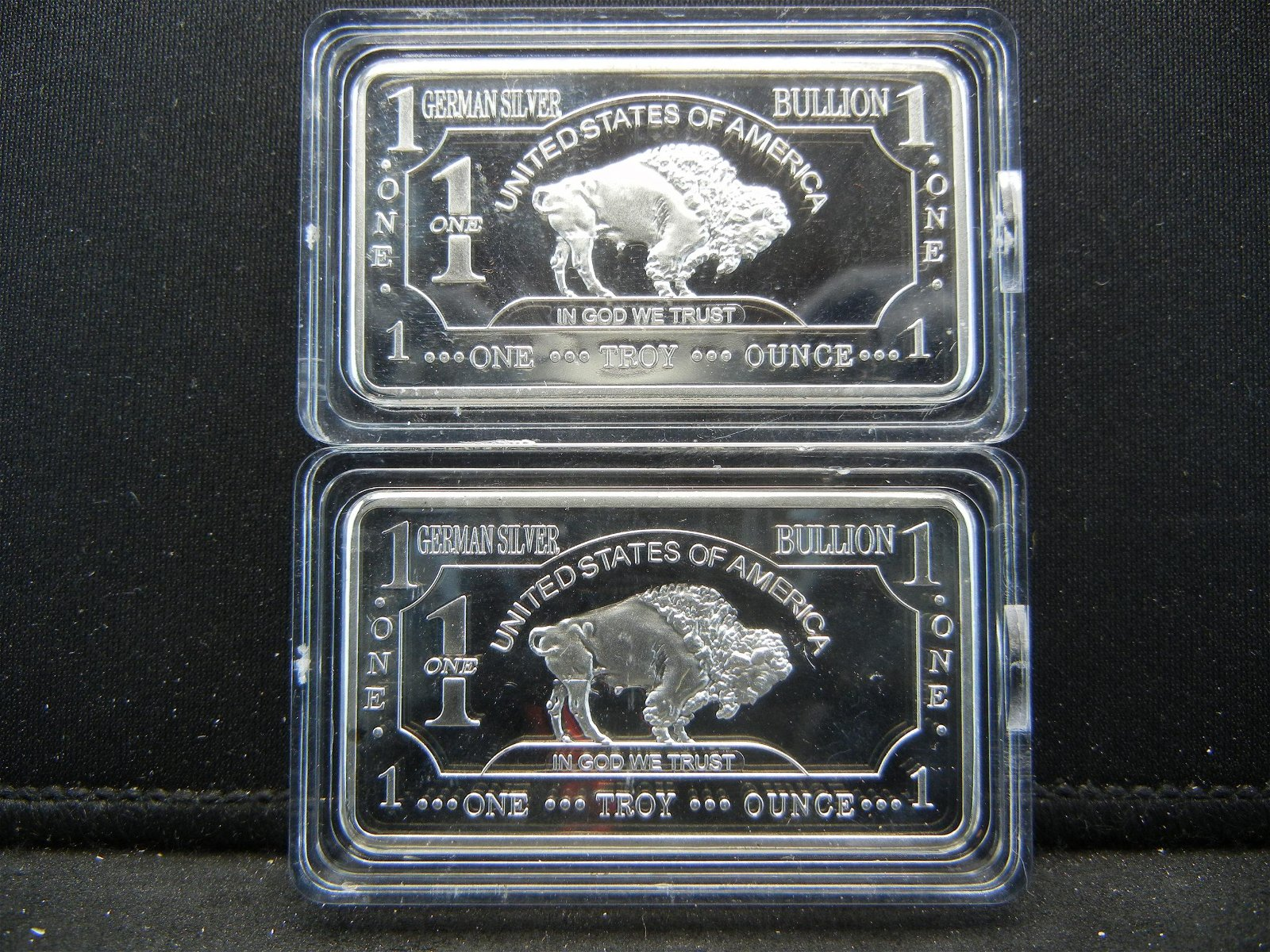 Clad 2 One Troy Ounce German Silver Buffalo Collector