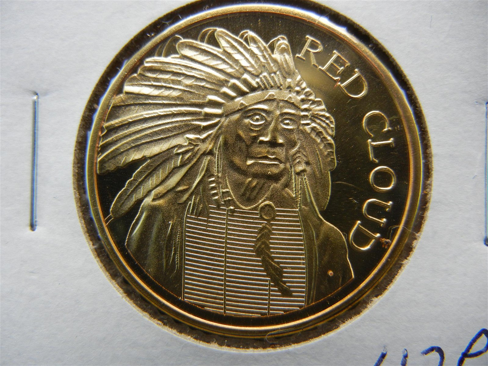 2010 1/2 Ounce .100 Mills 24 Karat Gold Red Could Medal