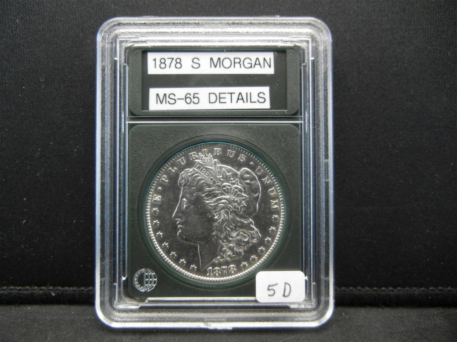 1878-S Morgan Silver Dollar, Beautiful Coin, Excellent