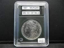 1897 Morgan Silver Dollar, BU Gem