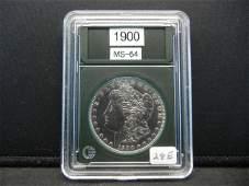 1900 Morgan Silver Dollar, BU Gem