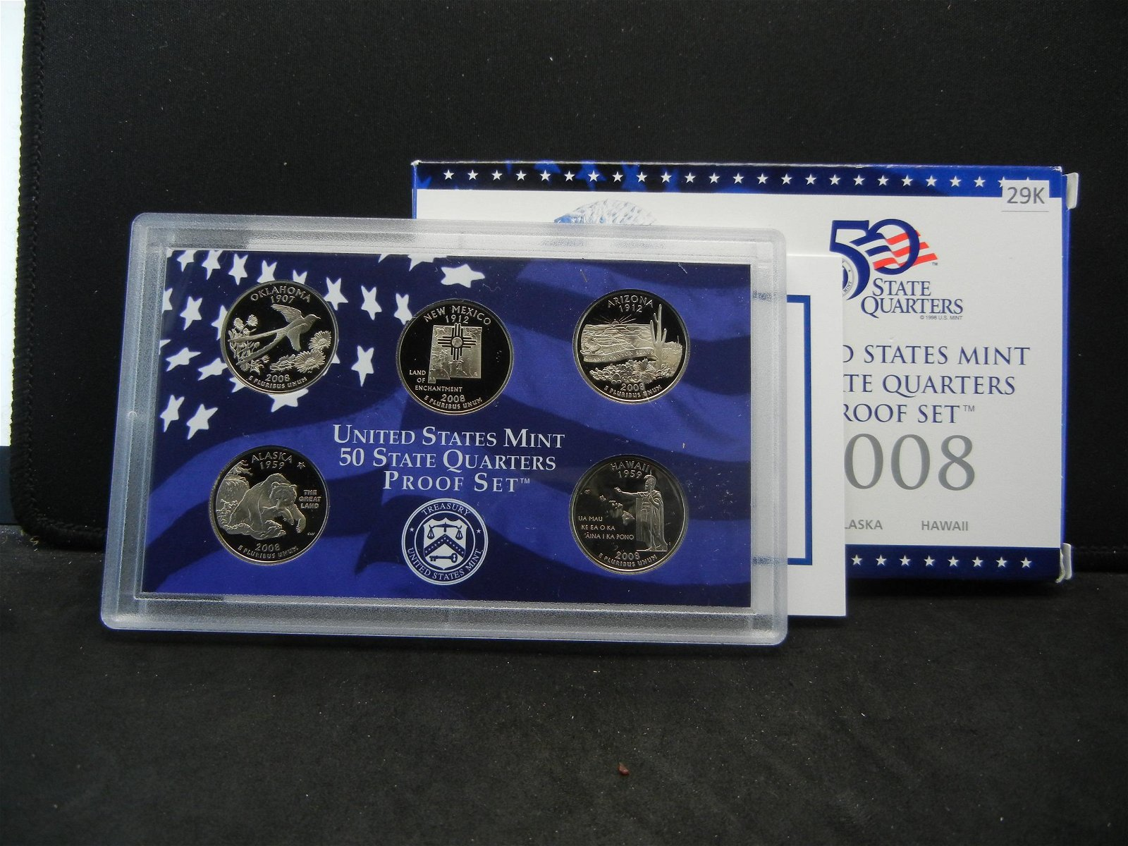 2008 State Quarters 5 Coin Proof Set Issued By The