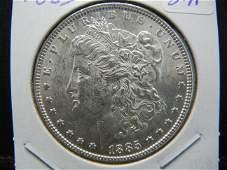 1885 Morgan Silver Dollar. BU. White and Lustrous