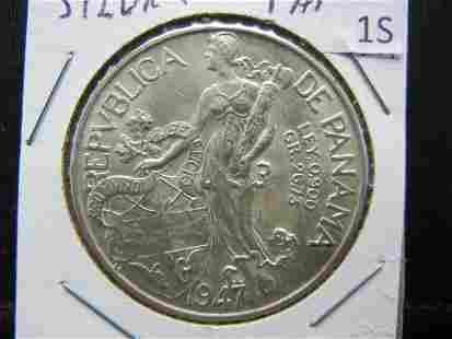 1947 Panama Silver
