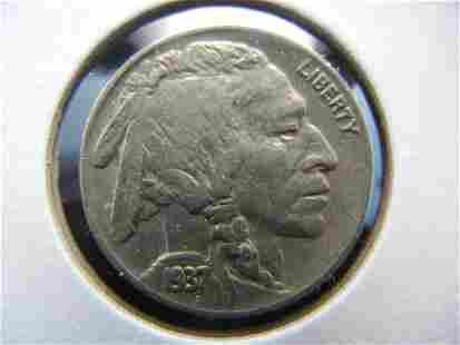 1937 Buffalo Nickel AU