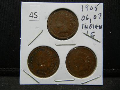 1905 06 07 Indian Head Cents