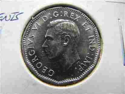1945 Canada 5 Cent Piece