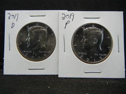 2019P and D Kennedy Half Dollar Set