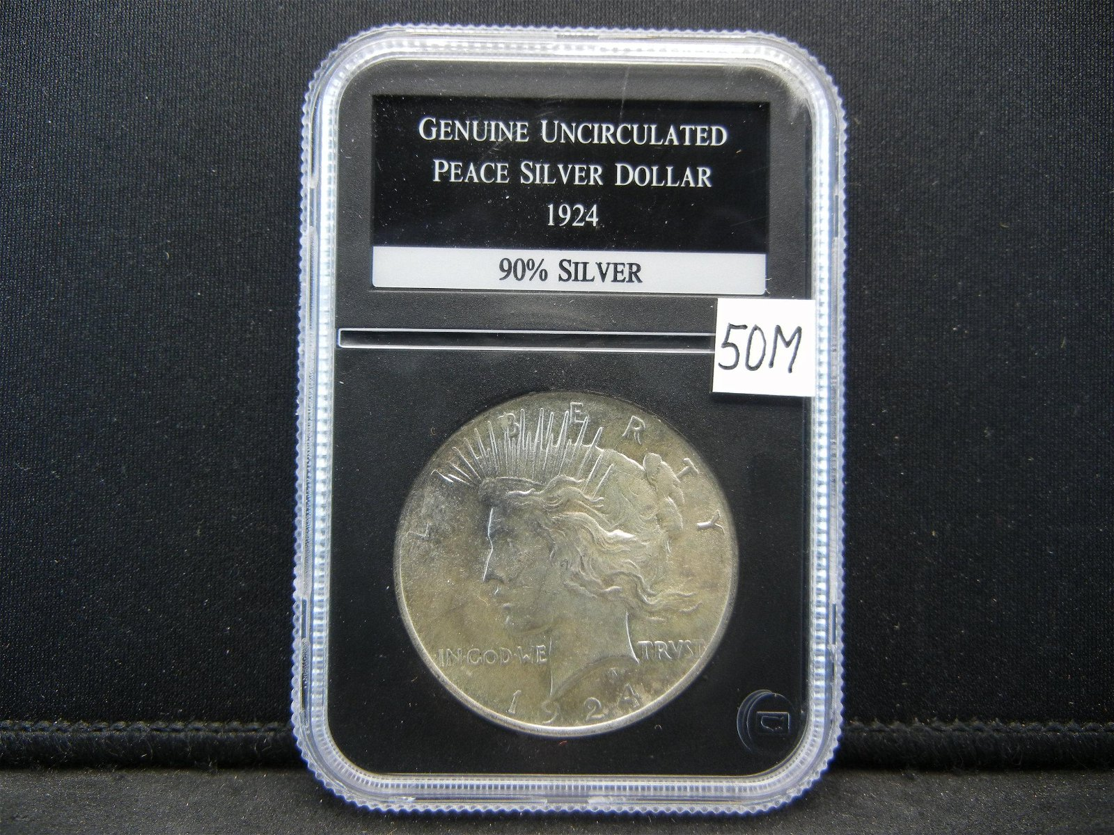 1924 Peace Silver Dollar Almost Uncirculated AU
