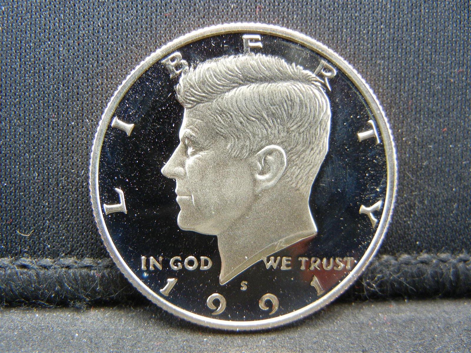 1991-S Proof John Kennedy Half Dollar.