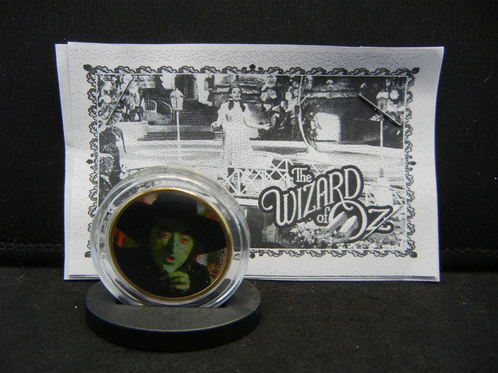 WIZARD OF OZ (THE WICKED WITCH), COE/24K GOLD PLATED