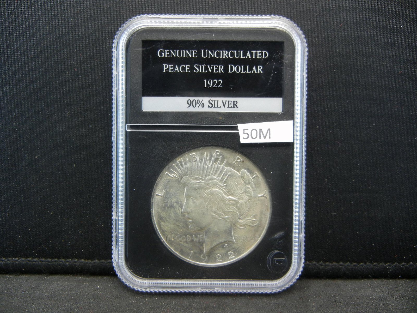 1922 Uncirculated Peace Silver Dollar Graded By PCS