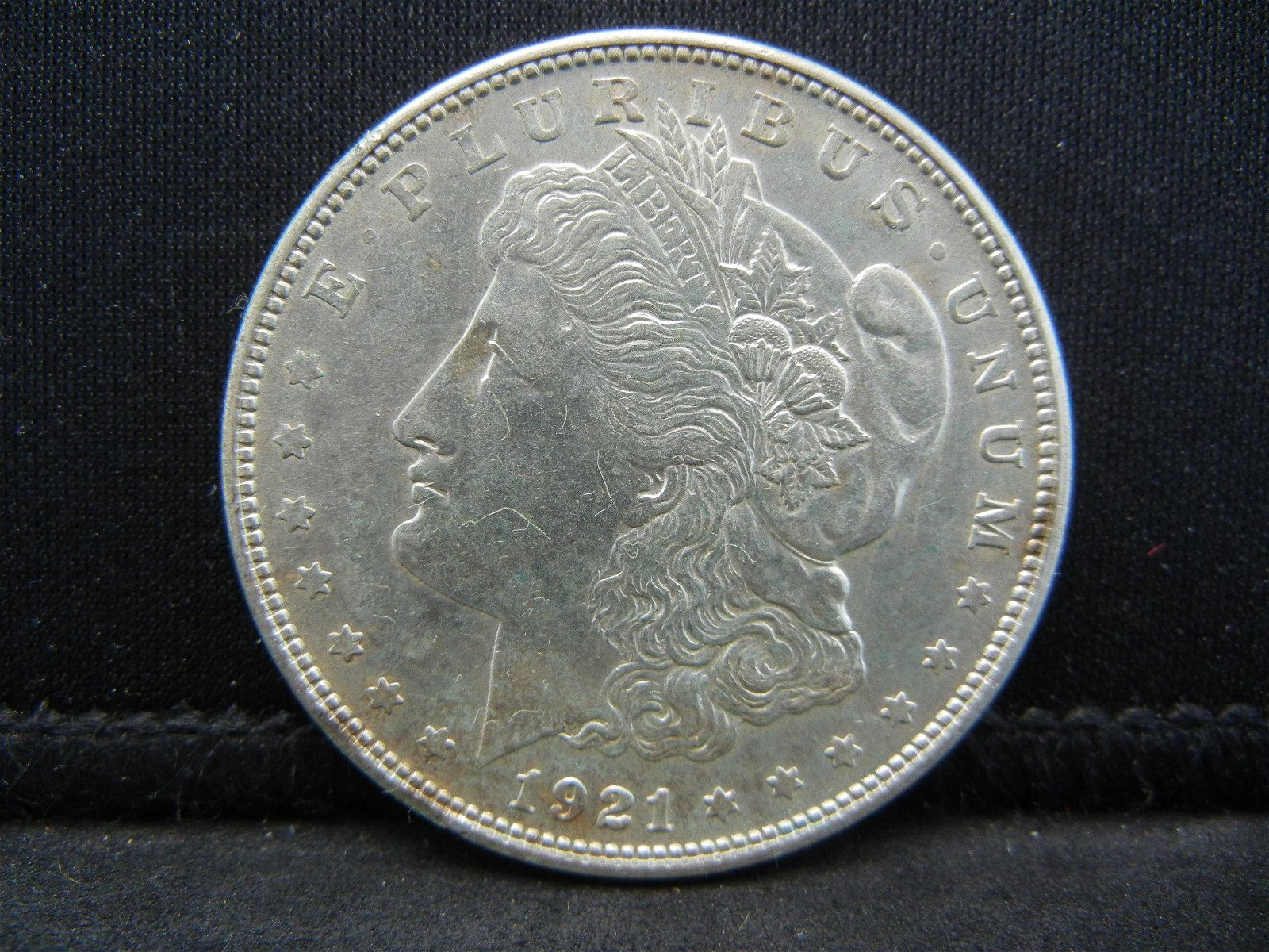 1921-S MORGAN SILVER (90%) DOLLAR, (ONLY 21.7 MILL EVER