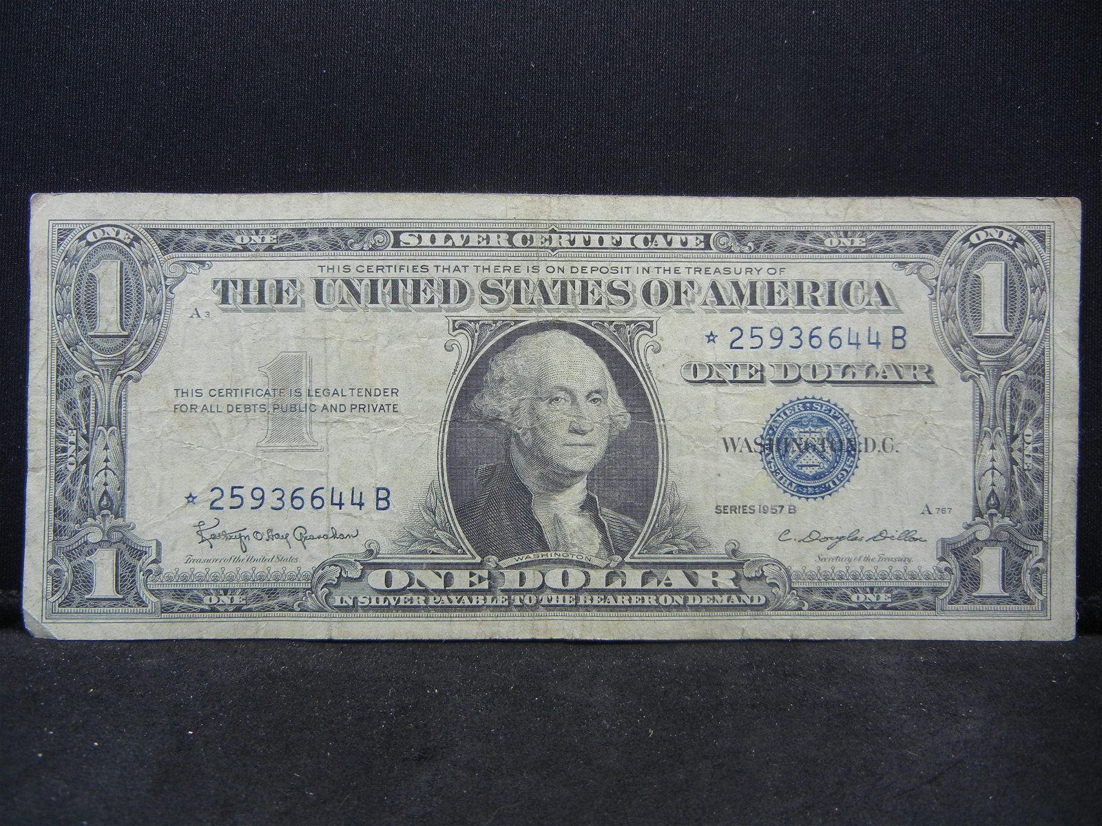 1957-B Silver Certificate Star Note