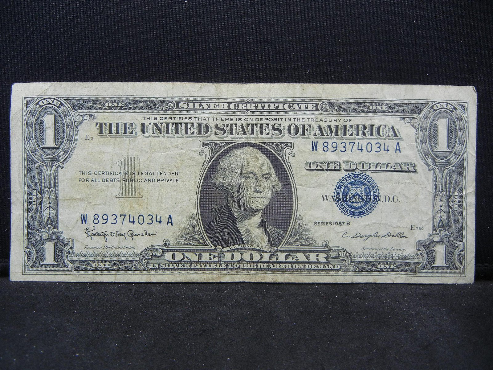 1957-B $1 Us Silver Certificate