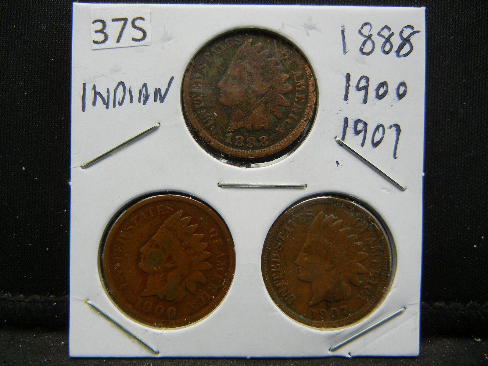 1888, 1900, 07 Indian Head Cents