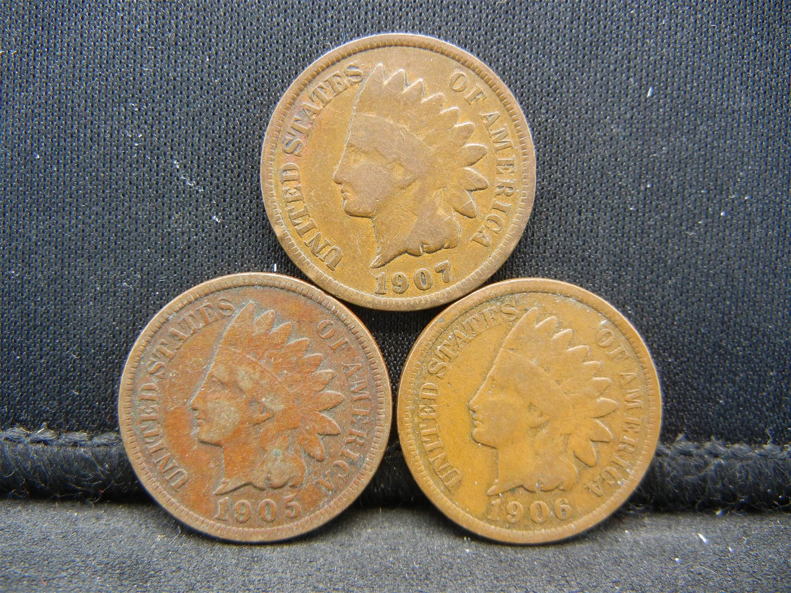 (3) Mixed Date Indian Head Cents