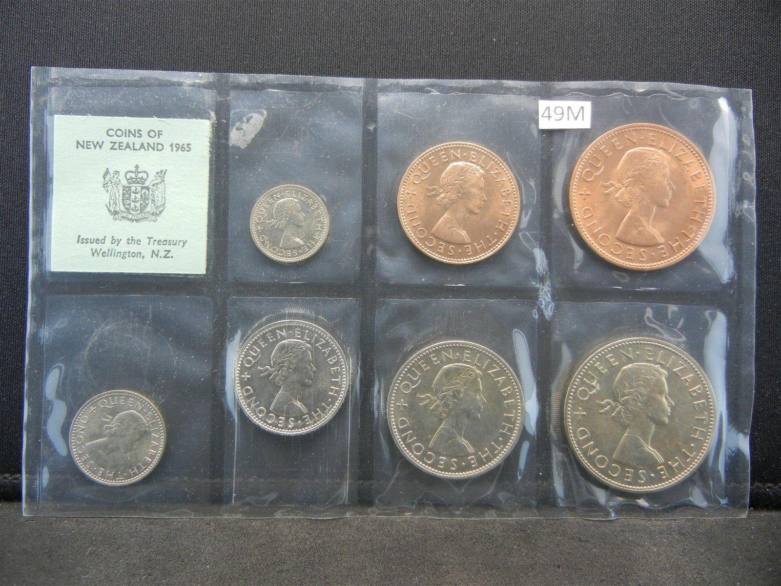 1965 New Zealand 7 Coin Set