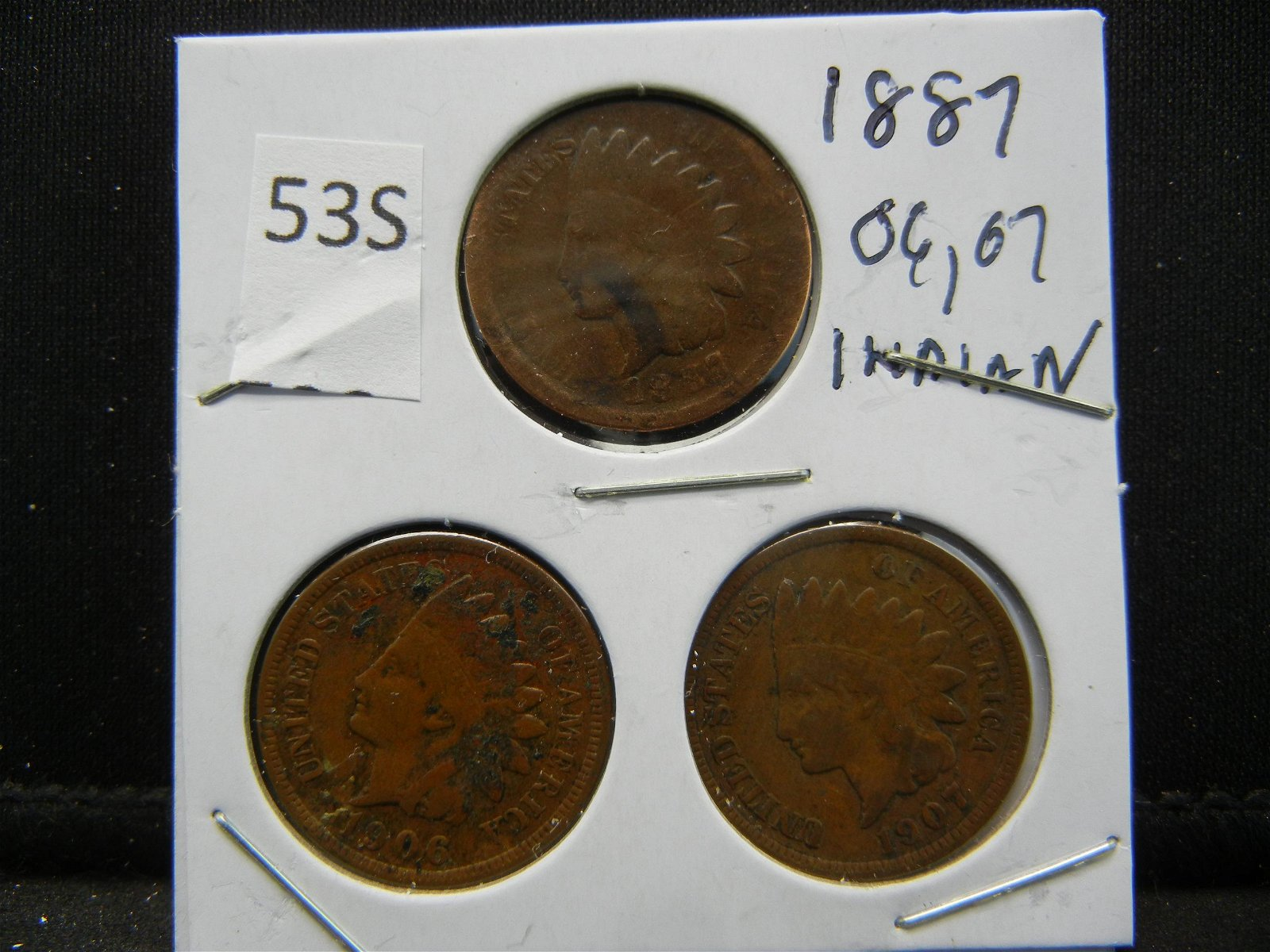 1887, 06, 07 Indian Head Cents