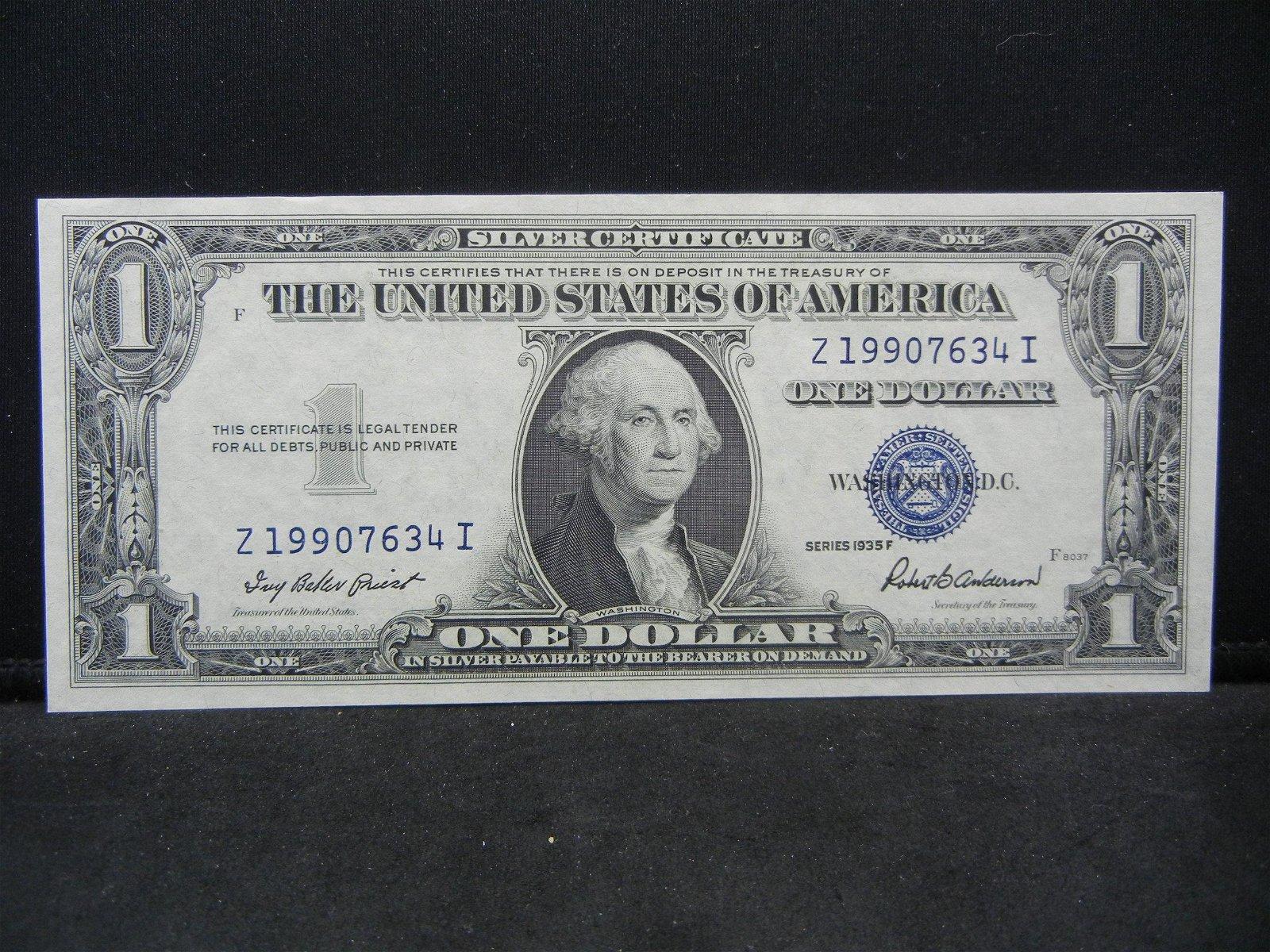 1935-F $1 US Silver Certificate