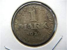 1924 G Weimar Republic Germany SILVER Mark. RARE!
