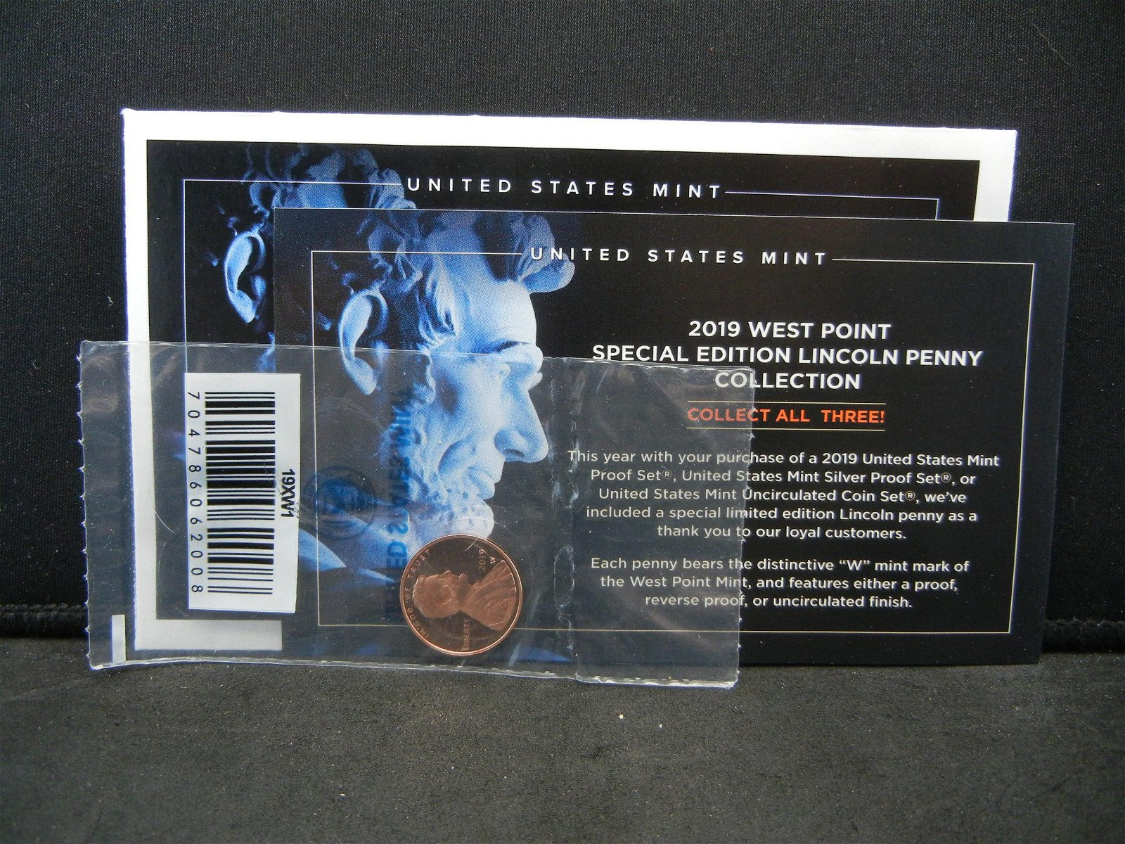 2019-W RARE Proof West Point Penny.!!!