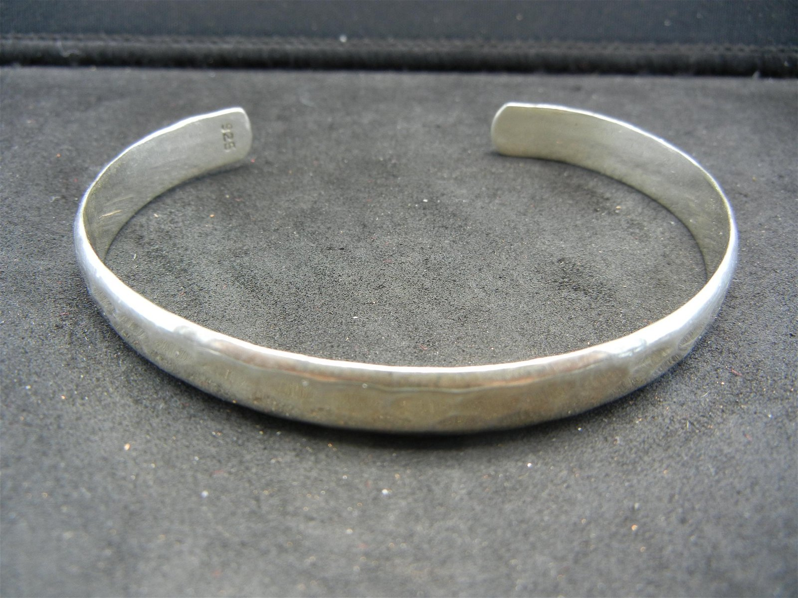Ladies Sterling Bracelet.  Hammered silver cuff