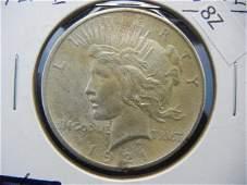 1921 Peace Dollar