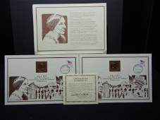2 Susan B Anthony Dollar and Coin Sets With COA