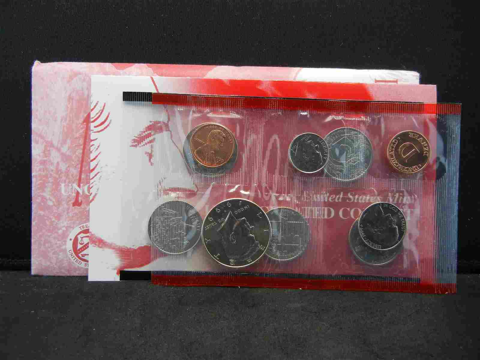 1999 DENVER US UNCIRCULATED MINT SET - WITH STATE