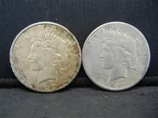 1922 & 1923 SILVER PEACE DOLLARS
