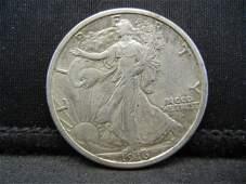 1916 D Walking Liberty Half Dollar XF Key date