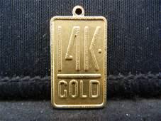 Clad 14K Gold Pendant Charm Clad