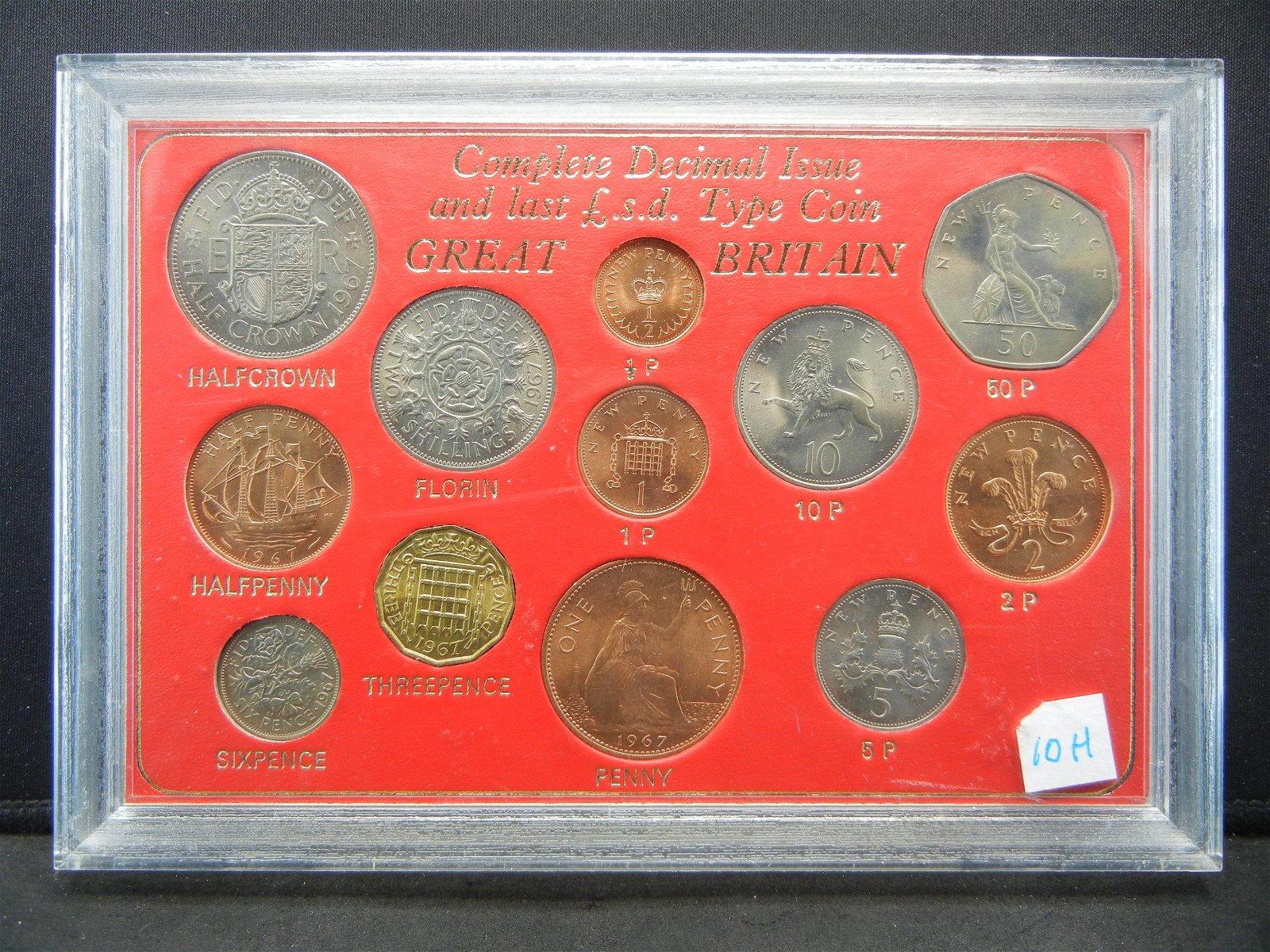 1967 Great Britain mint set
