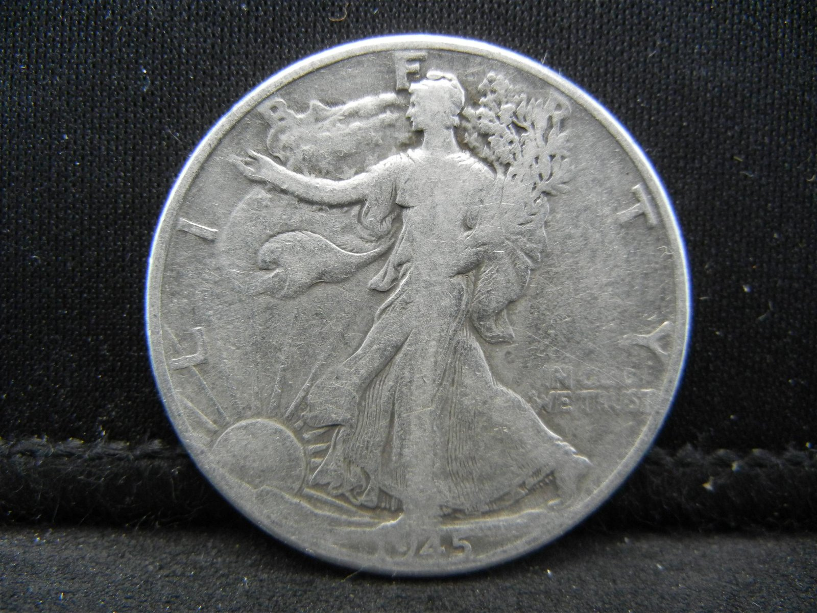 1945 SILVER (90%) LIBERTY HALF, WWII ERA, 74 YRS OLD,