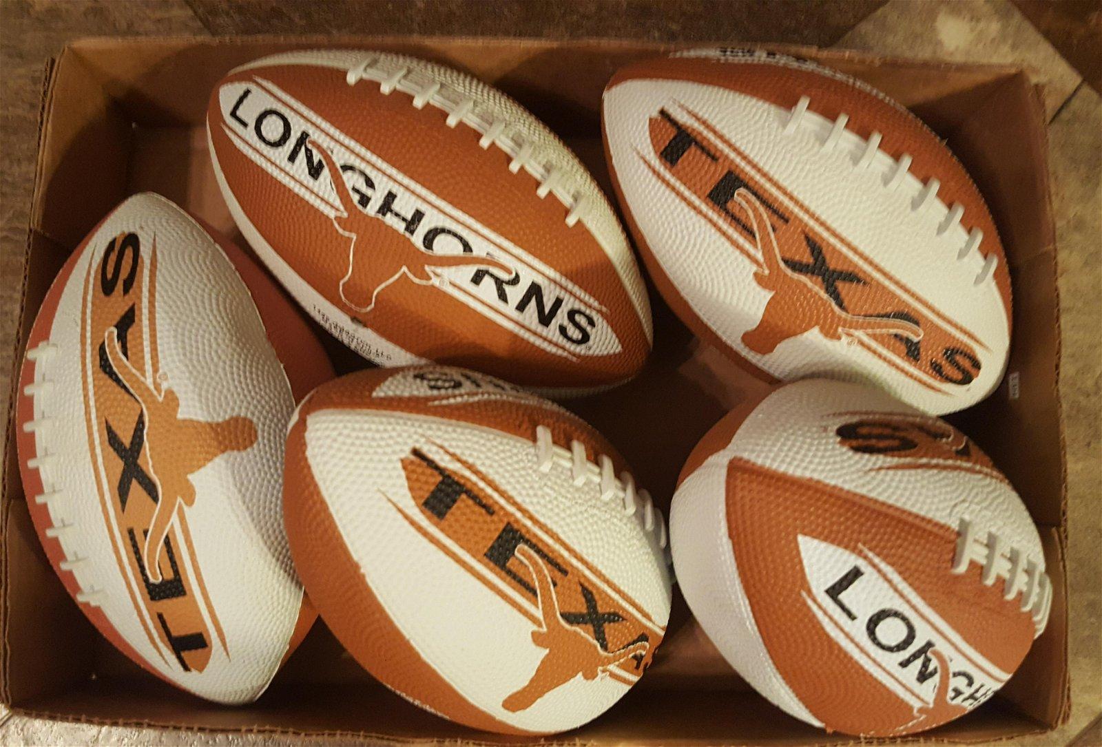 Lot of Texas Longhorns Mini Footballs