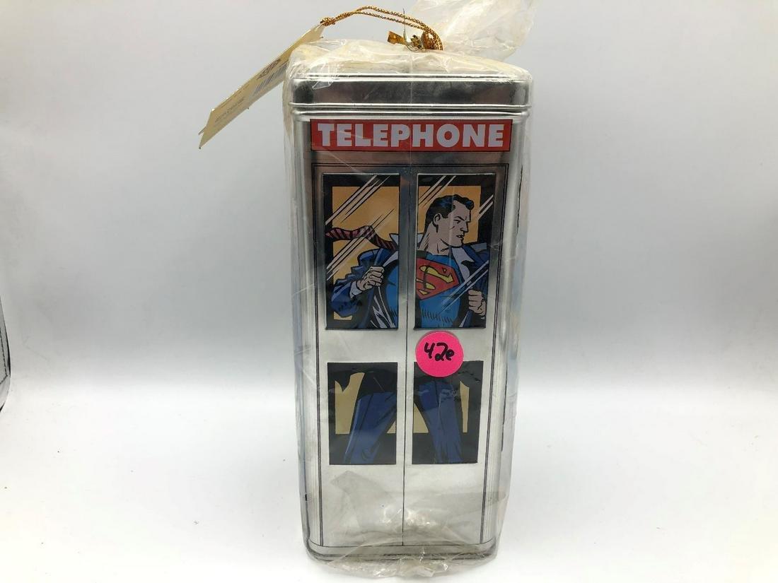 Superman Phone Booth Tin Bank