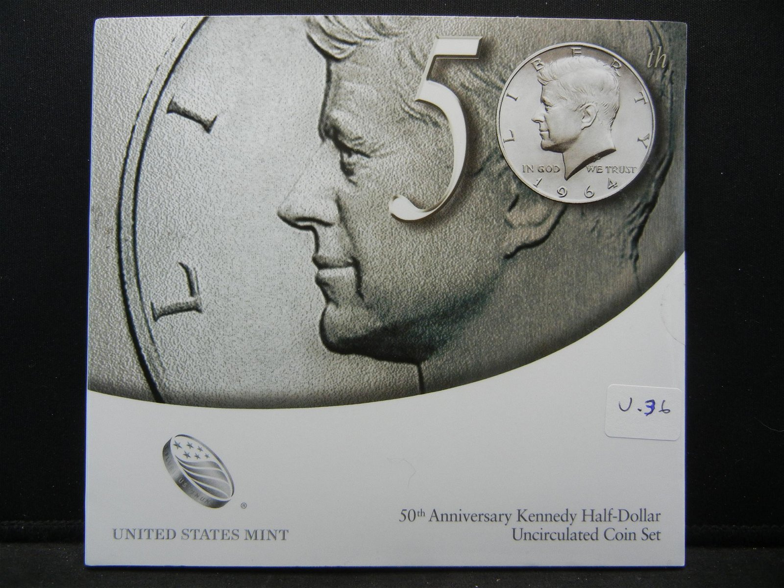 2014 Accented Hair 2 coin Kennedy Half Dollar Set from