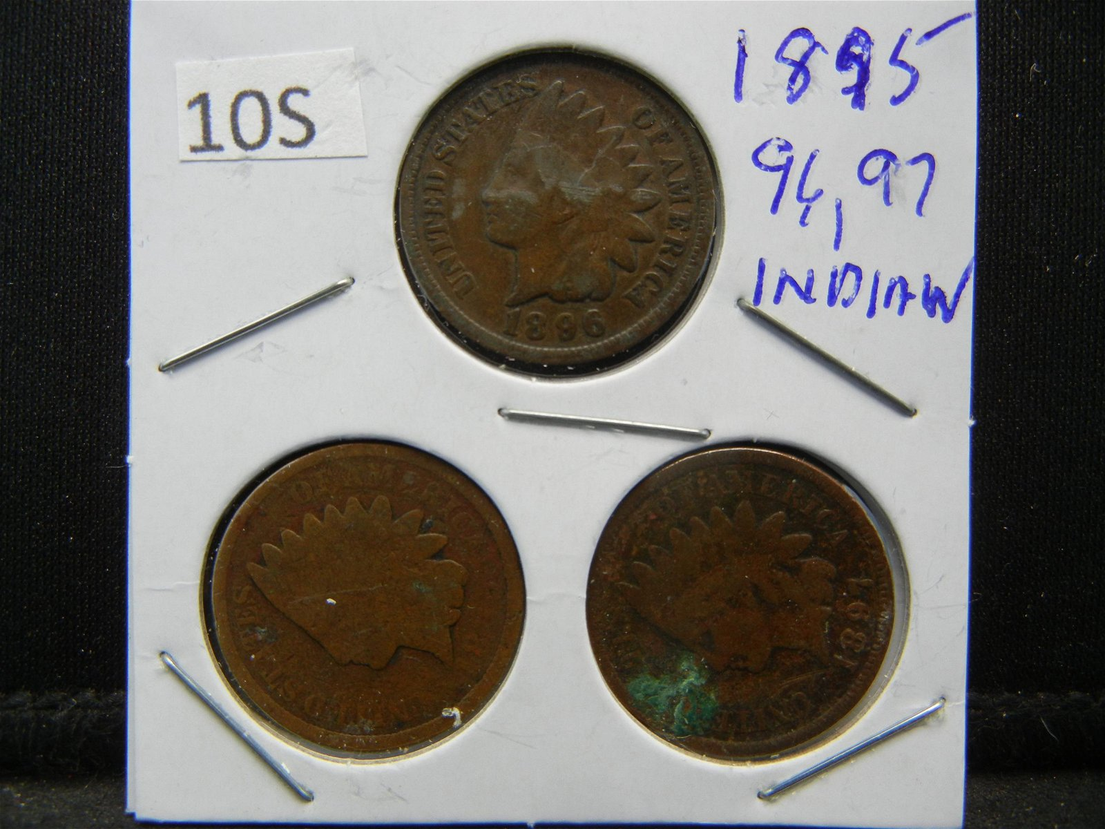 1895, 96, 97, Indian Head Cents