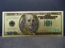 One Hundred Dollar Gold Bank Note Novelty Note Not