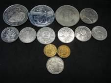 2012 1Oz Silver Britannia Plus 10 Old Foreign Coins