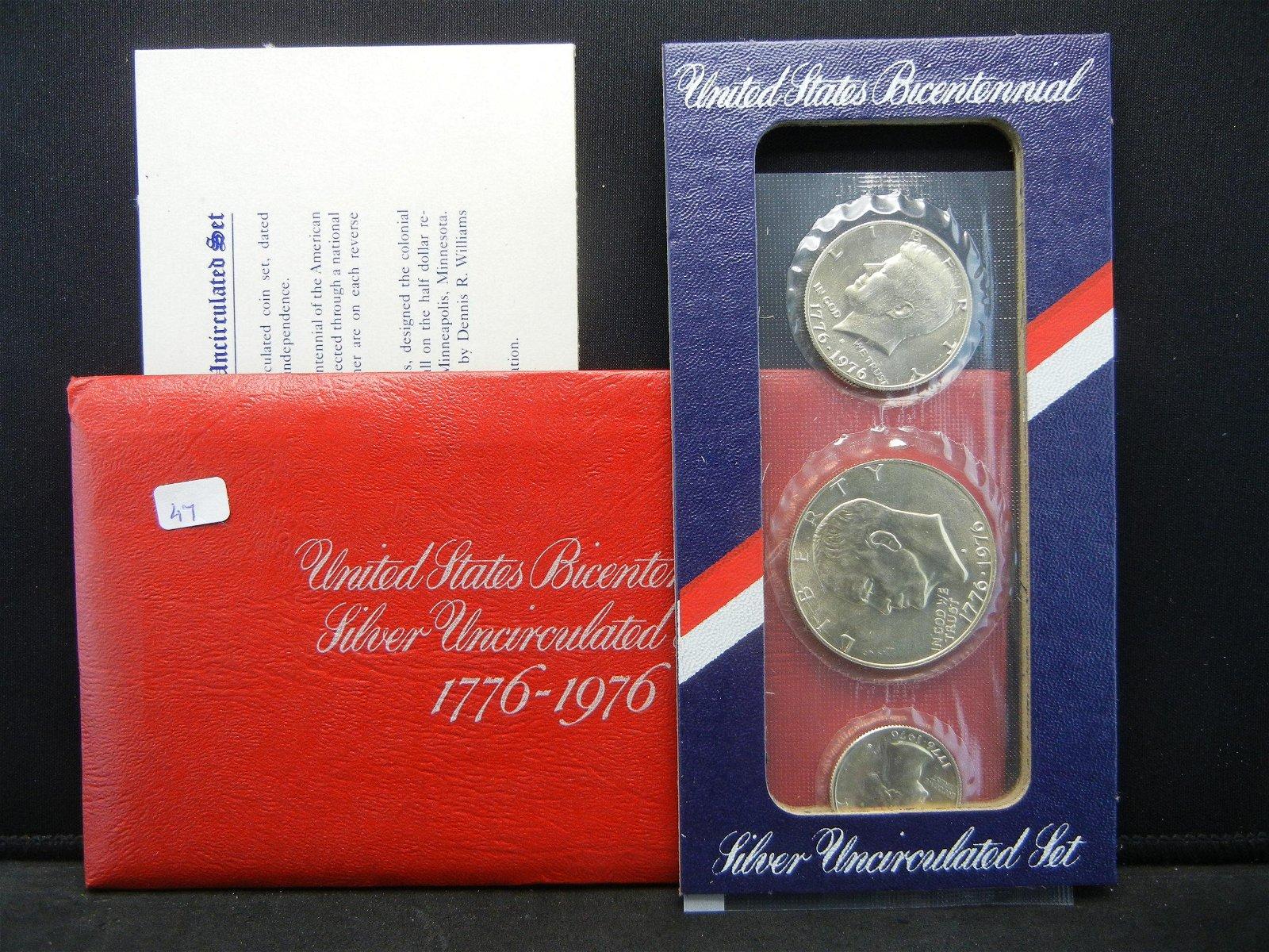 1976-S Three Piece Silver Bicentennial US Mint Set.