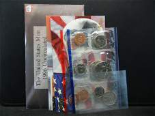 1996 PD United States 11 Coin Mint Set With the 1996-W