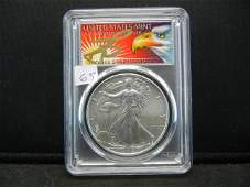 2019 American Silver Eagle PCGS MS70 Thomas Cleveland 1