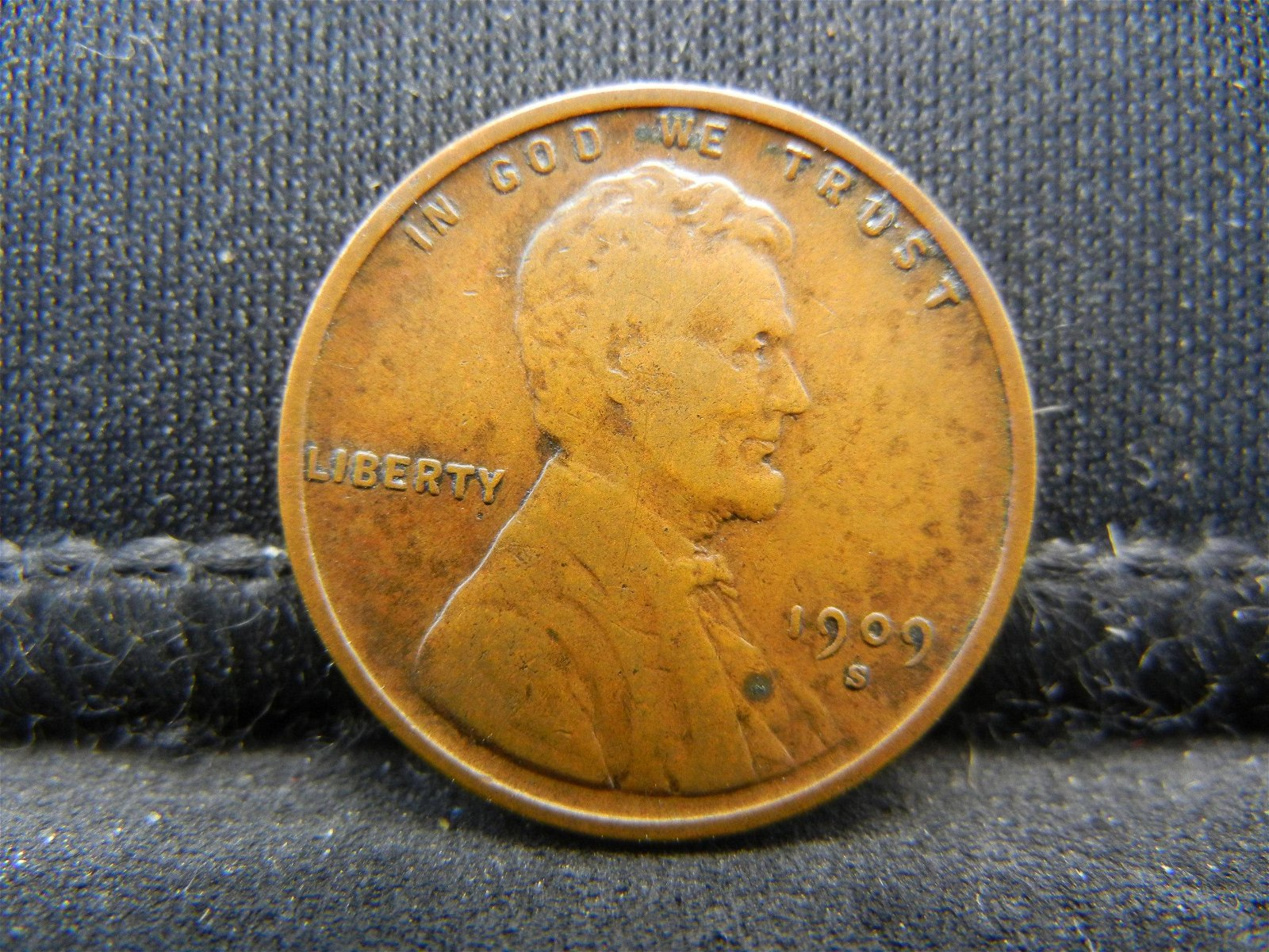 1909 S VDB Lincoln Cent XF Key Date