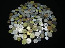 Large Group of Mixed Foreign Coins. Weighs 2.25