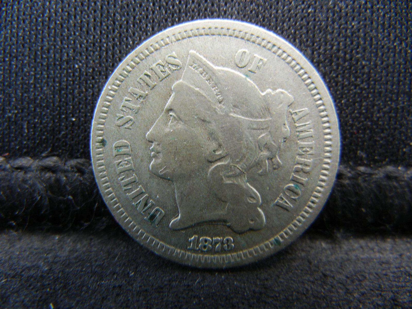 1873 United States Three 3 Cent Nickel